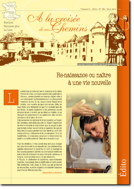 Journal paroissial N° 36 - Mars 2015