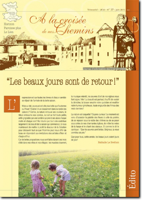 Journal paroissial N° 37 - Juin 2015