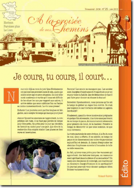 Journal paroissial N° 25 - Juin 2012