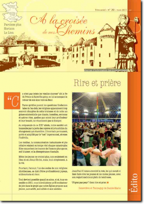 Journal paroissial N° 20 - Mars 2011
