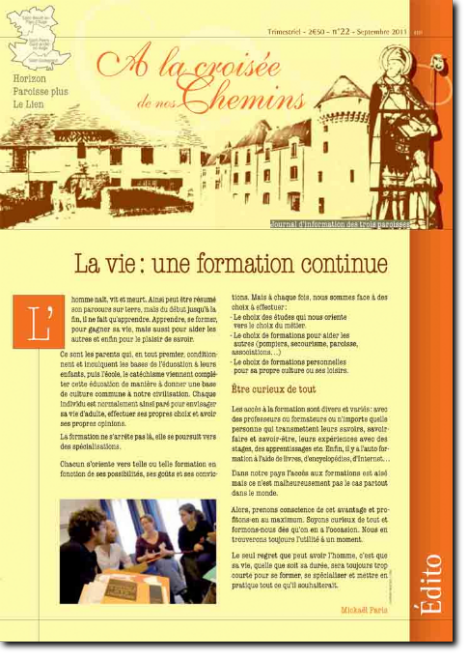 Journal paroissial N° 22 - Septembre 2011