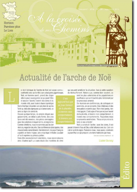 Journal paroissial N° 38 - Septembre 2015
