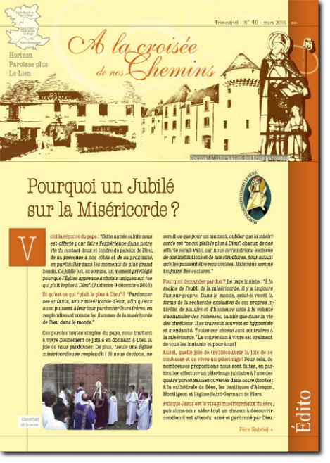 Journal paroissial N° 40 - Mars 2016