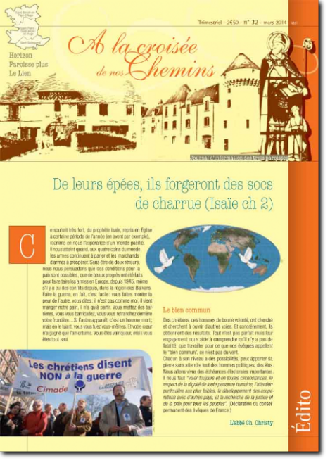 Journal paroissial N° 32 - Mars 2014
