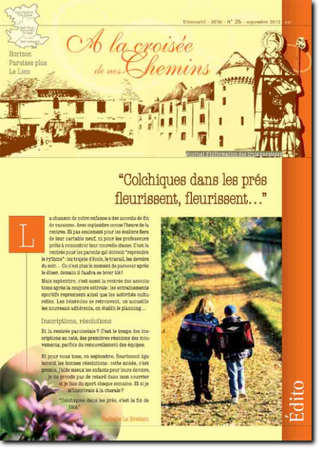 Journal paroissial N° 26 - Septembre 2012